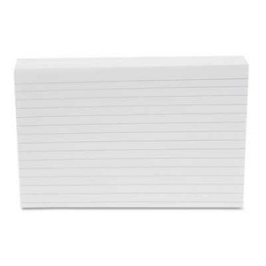 "#UNV47235 - Ruled Index Cards, 4"" x 6"", White"