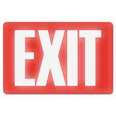 "#USS4792 - ""Exit"", 8 in x 12 in, Glow In The Dark, Red"