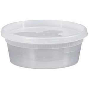 8 oz., Deli Container & Lid, Clear, 250/Case