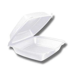 "#4700 - 8"" Foam Takeout Container - 1 Compartment, 200/Case"