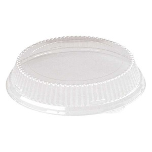"7"" Dome Lids for Carry Out Trays, Clear, 500/Case"
