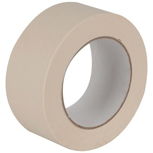 "#4020 - 1"" x 60 Yds., 5.5 Mil., Natural, 36/Case, Masking Tape"