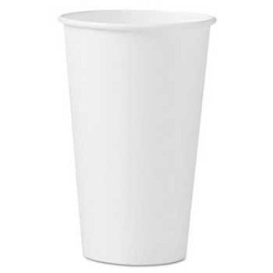 #SCC316W - 16 oz Solo Paper Hot Cups, Polycoated, White, 1000/Case