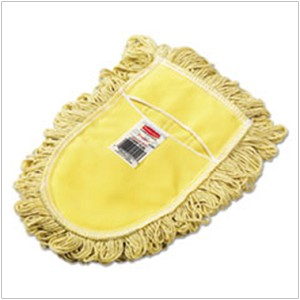 #RCPU120 - Rubbermaid, Dust Mop Head, Trapper Wedge, Looped-End, Cotton, Yellow